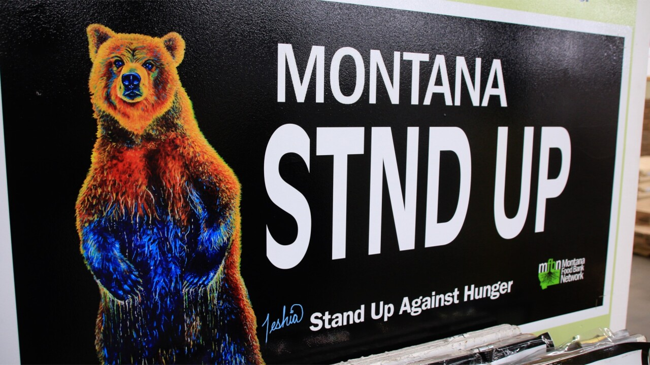 Montana Food Bank Network License Plate