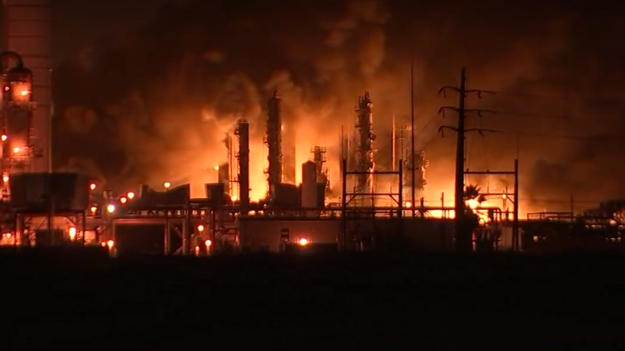 Watch: Texas chemical plant explosion creates massive fire