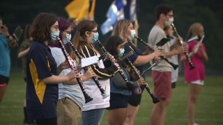 Kirtland marching band