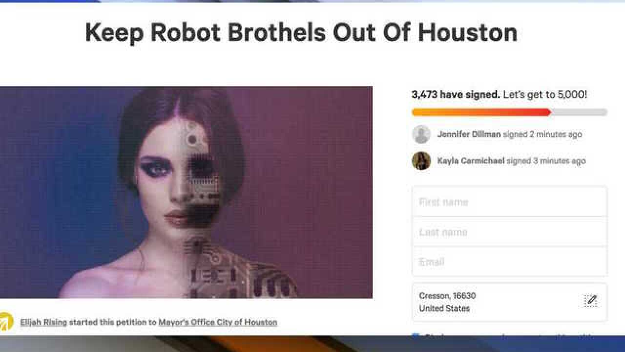 Sex robot brothel wants to open in Texas, anti-sex-trafficking group looking to stop it