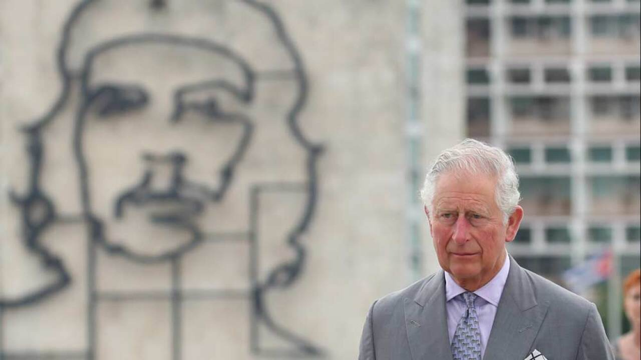 Prince Charles, Prince Of Wales attends a wreath laying ceremony at the Jose Marti Memorial on March 24, 2019 in Havana, Cuba. (Photo by Chris Jackson/Getty Images)