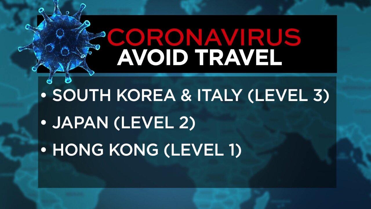 Coronavirus travel warnings