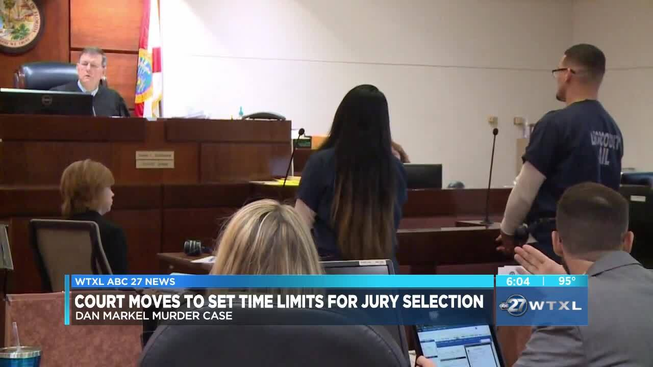 Court moves to set time limits for jury selection in Markel