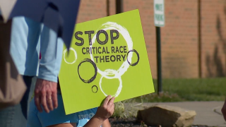 Group protests critical race theory being taught at Forest Hills School