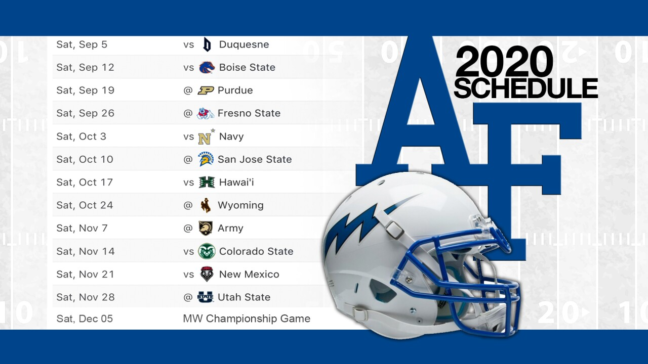 Falcons Announce 2020 Football Schedule