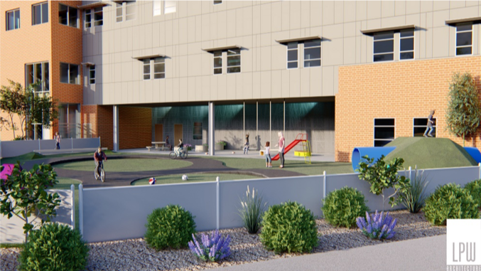 Pediatric physical therapy spaces are designed to make recovery feel like child's play, with an outdoor playground, a track for tricycles and balancing bars. The current facilities are outdated and cramped. Their functionality is limited, so they don't meet the needs of our kids.