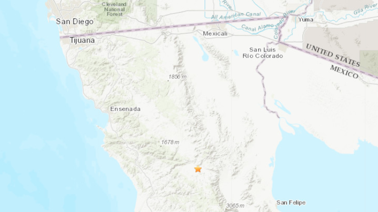 4 5 Magnitude Earthquake In Baja California Felt In San Diego Area Usgs Says