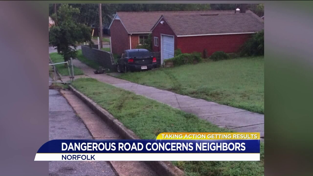 Norfolk neighbors say drivers who illegally use road will hit someone one day soon