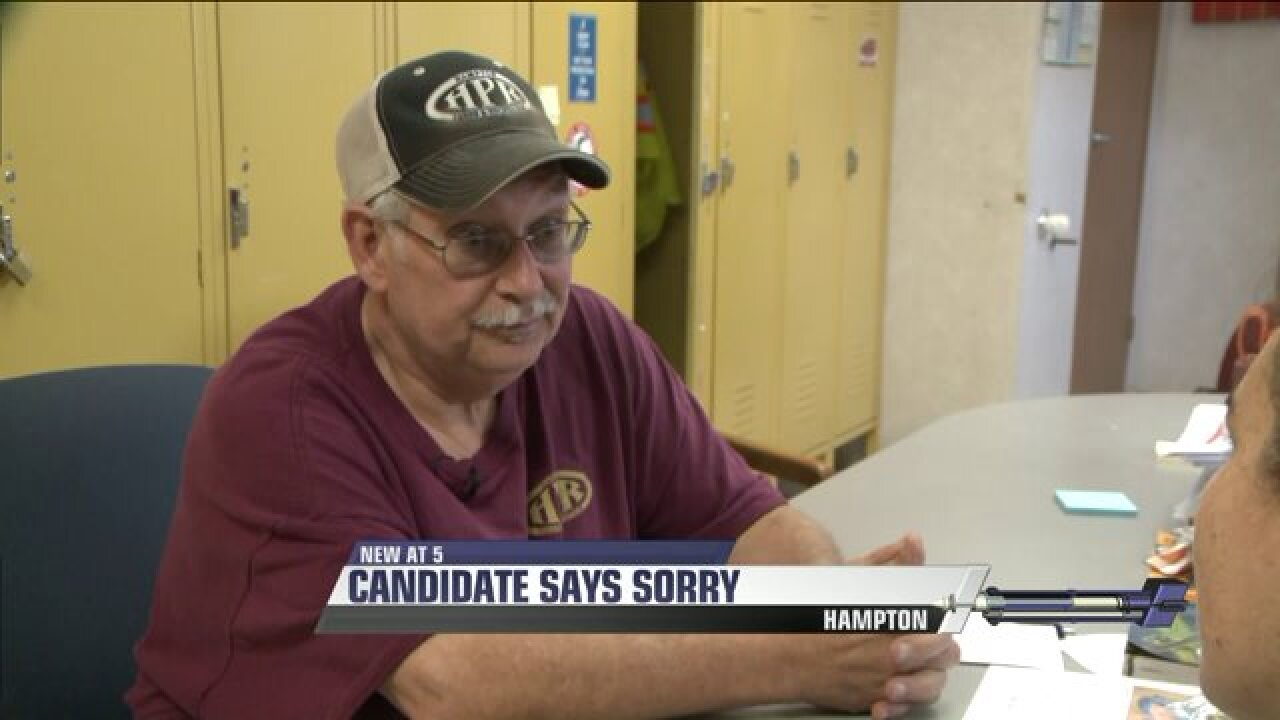 City Council candidate sorry for telling people he got a Purple Heart when he didn't