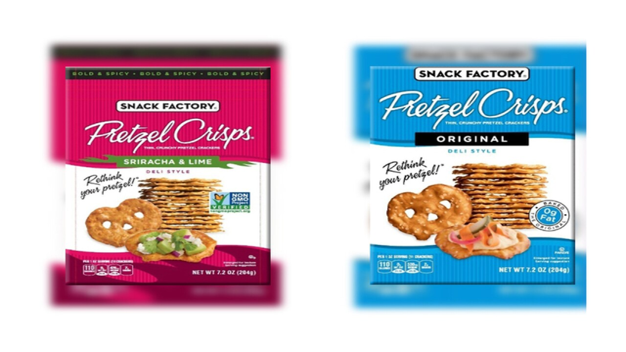 Snack Factory brand Pretzel Crisps recalled