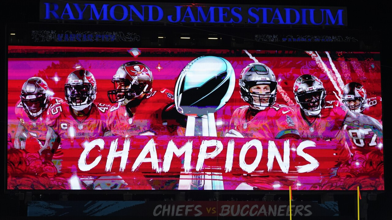 SUPER BOWL LV-Chiefs Buccaneers Super Bowl Football