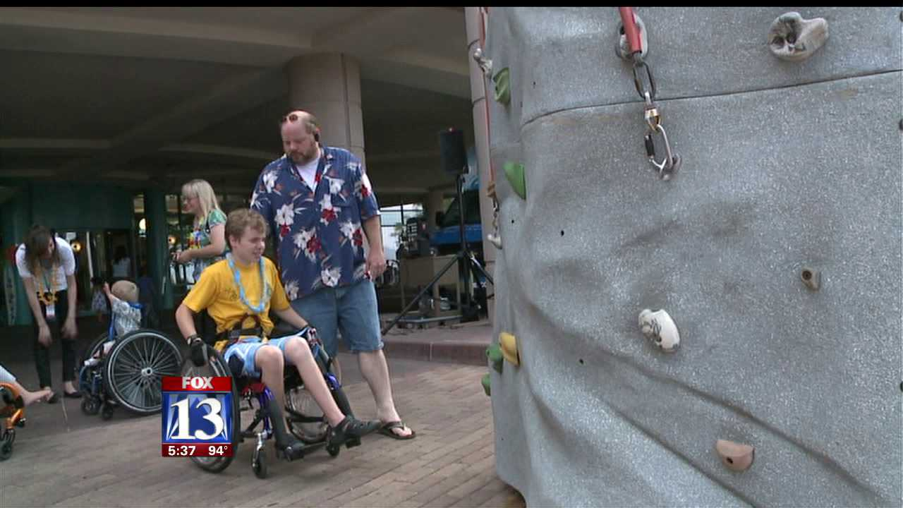 Luau held for children at Shriners hospital