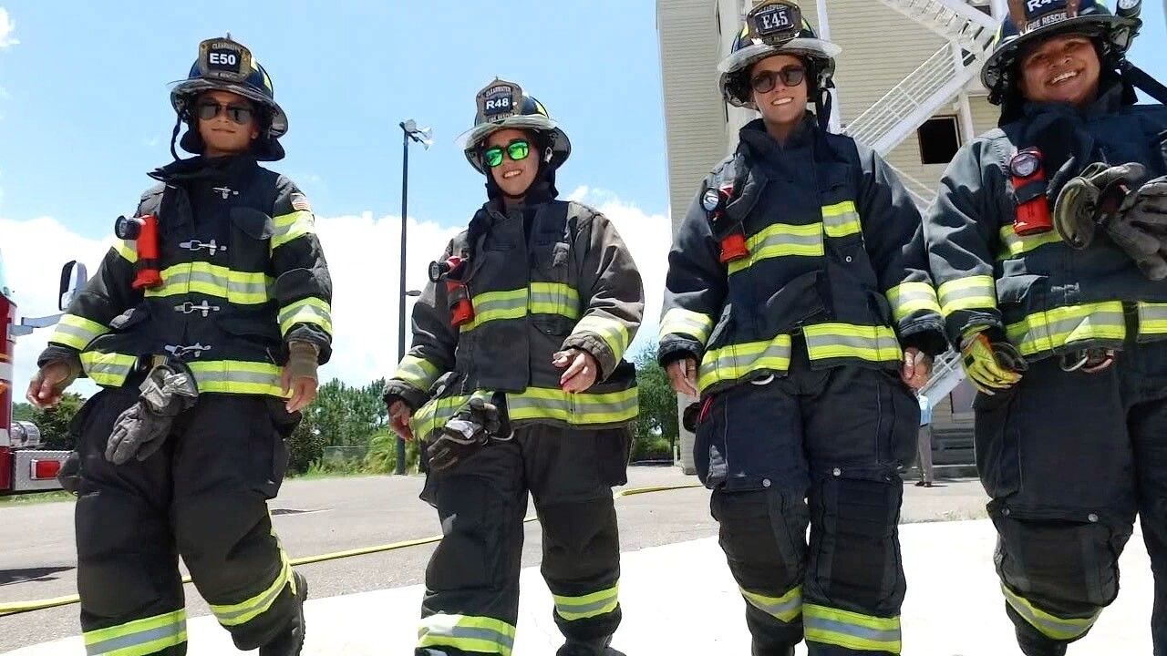 Lady firefighters