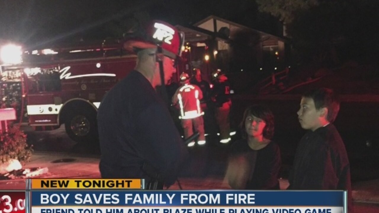 11-year-old boy saves family from fire