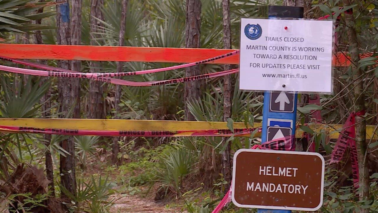 Halpatiokee Park biking trails closed after biker bitten by alligator