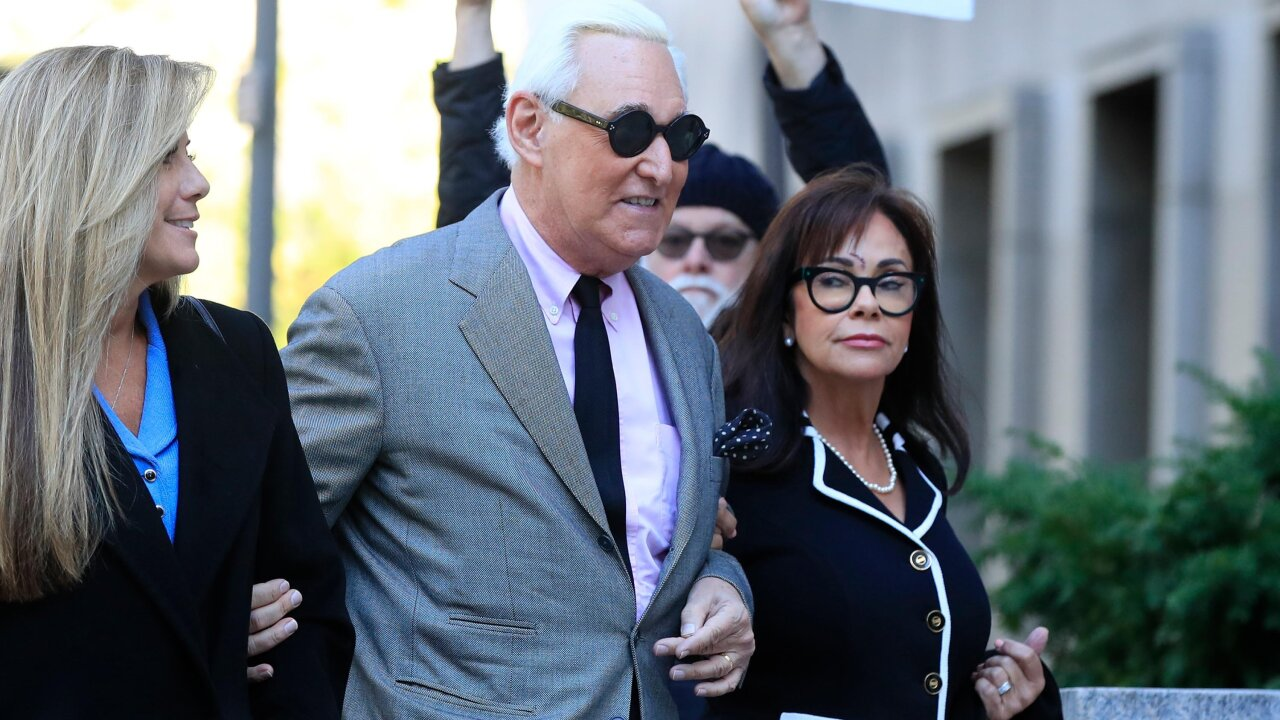 Trump associate Roger Stone has been found guilty