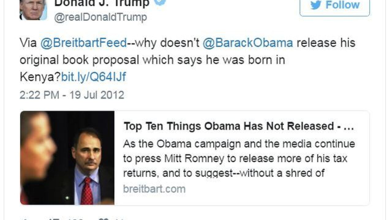 GALLERY: Donald Trump's history of 'birtherism'