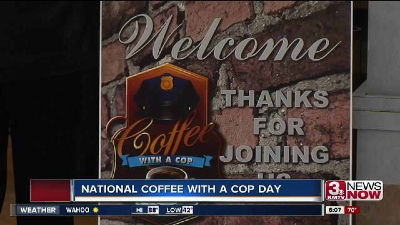 Omaha partakes in National Coffee with a Cop Day