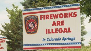 Fireworks illegal sign CSFD