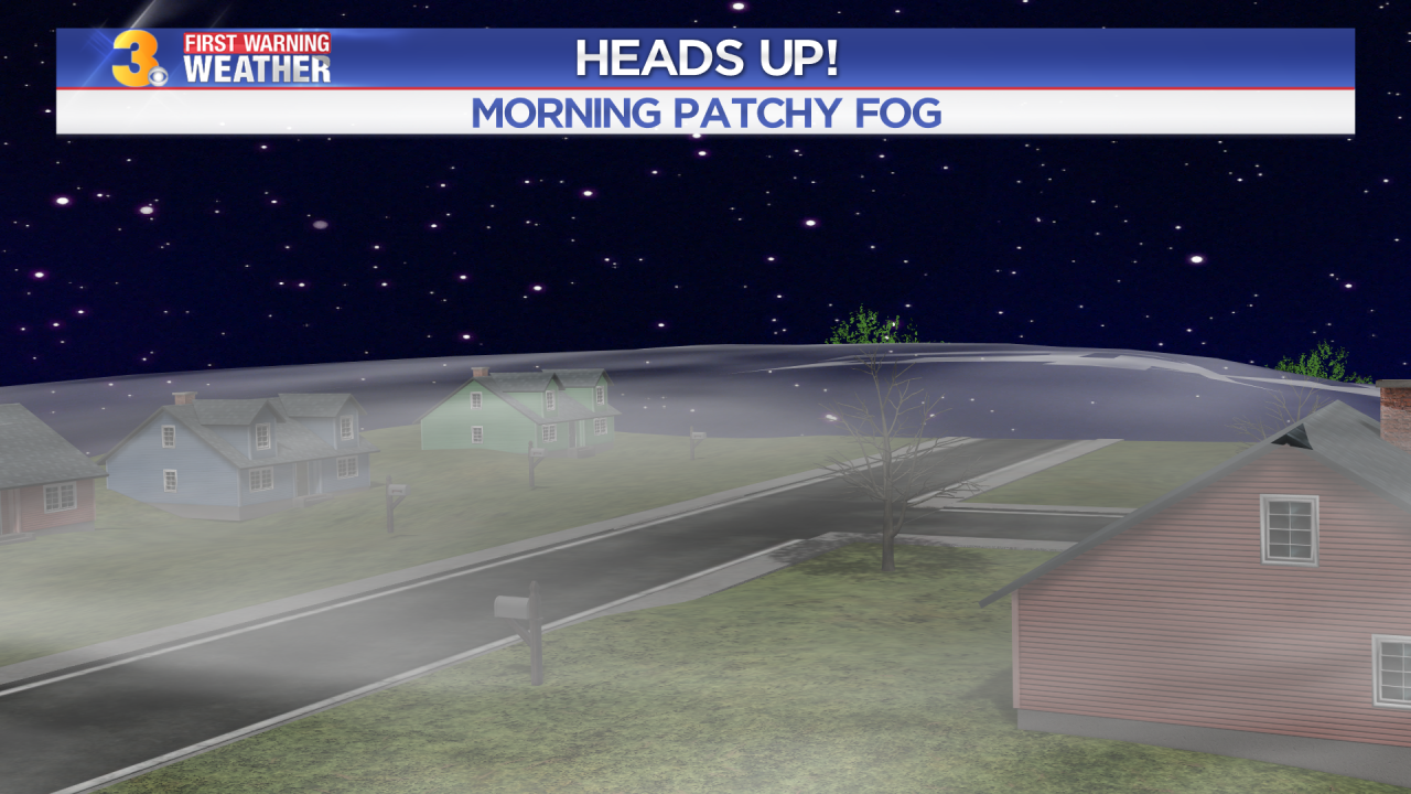First Warning Forecast: Tracking a cool start with patchy fog