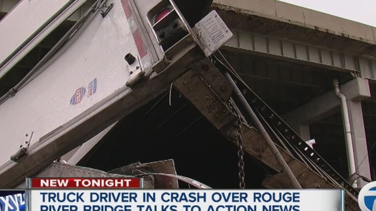 PHOTO: Semi goes over bridge on I-75
