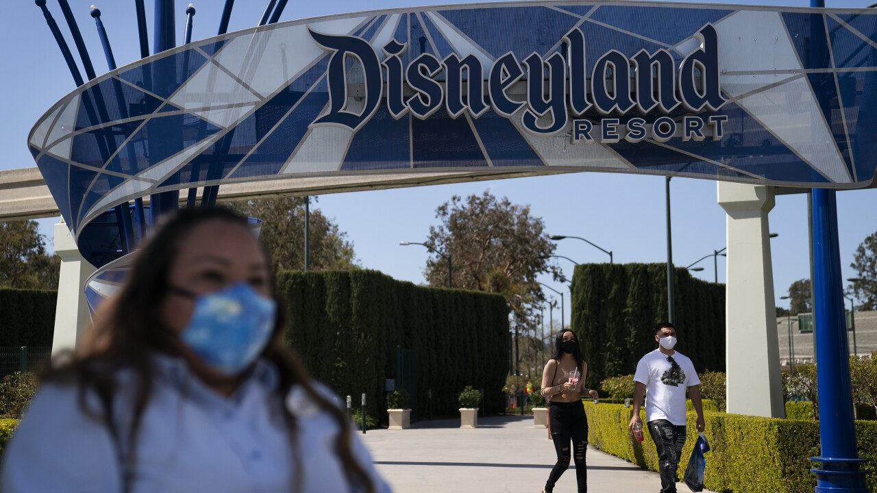 Virus Outbreak California Tourism Disneyland