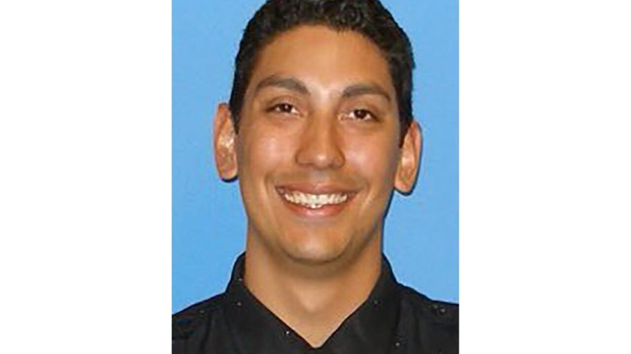 This undated photo provided by the San Francisco Fire Department shows firefighter paramedic Jason Cortez, who died Wednesday, Oct. 7, 2020, after being injured during a training exercise. His colleagues immediately gave him medical care and he was taken to San Francisco General Hospital where he died an hour later, San Francisco Fire Department spokesman Lt. Jonathan Baxter said. (San Francisco Fire Department via AP)