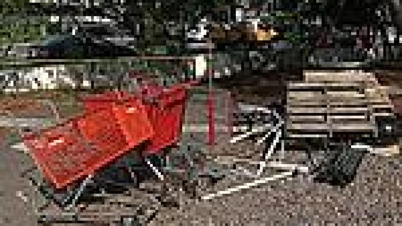 Lawmaker takes sledgehammer to Hawaii homeless' carts