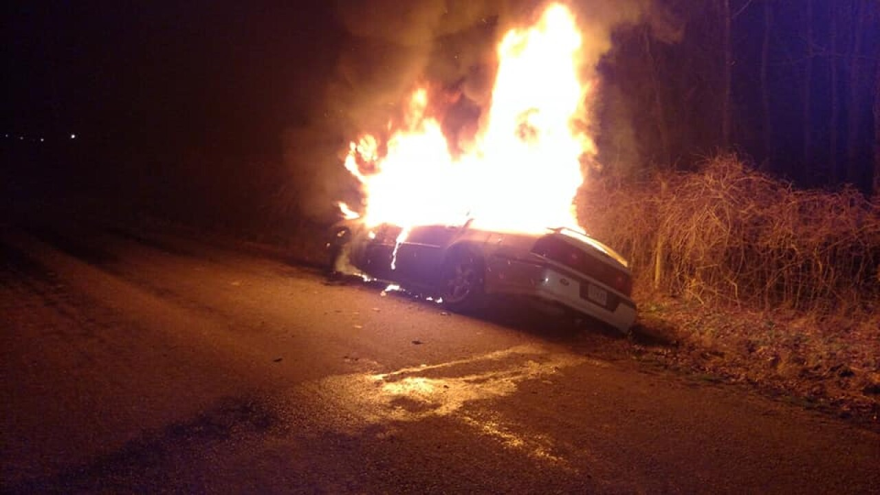Car a 'complete loss' after Southampton Co. fire