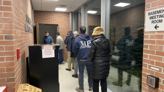 Voters lined up as polls opened at 6am in Orchard Park