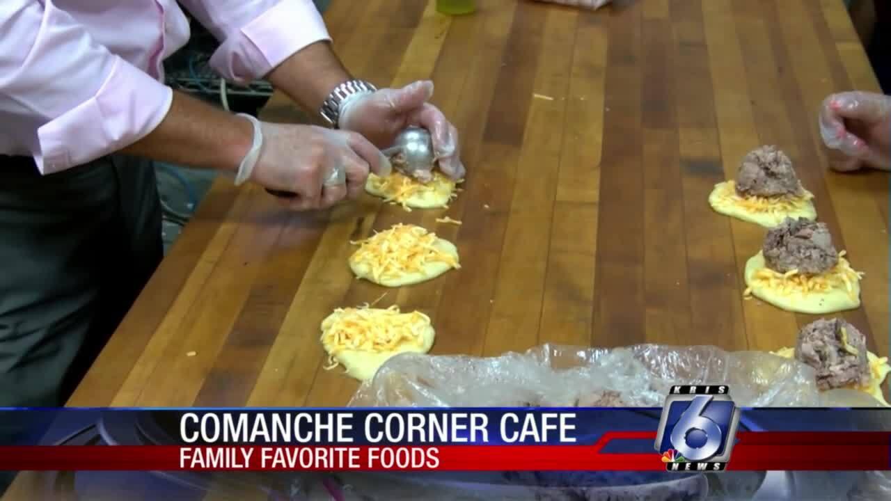 Delicious brisket breakfast kolaches from the Comanche Corner Cafe