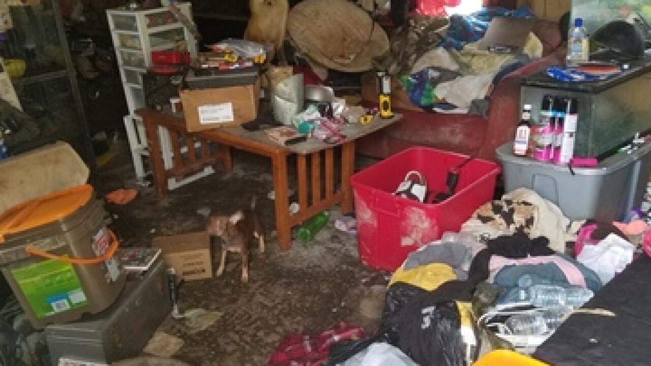 PHOTOS: Children, animals found living in filth