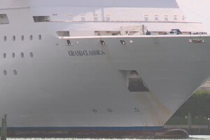 The Bahamas Cruise Line Grand Classica pulls into the Port of Palm Beach on June 3, 2021.jpg