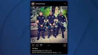 Denver officer in riot gear posts Instagram photo with the caption 'let's start a riot'