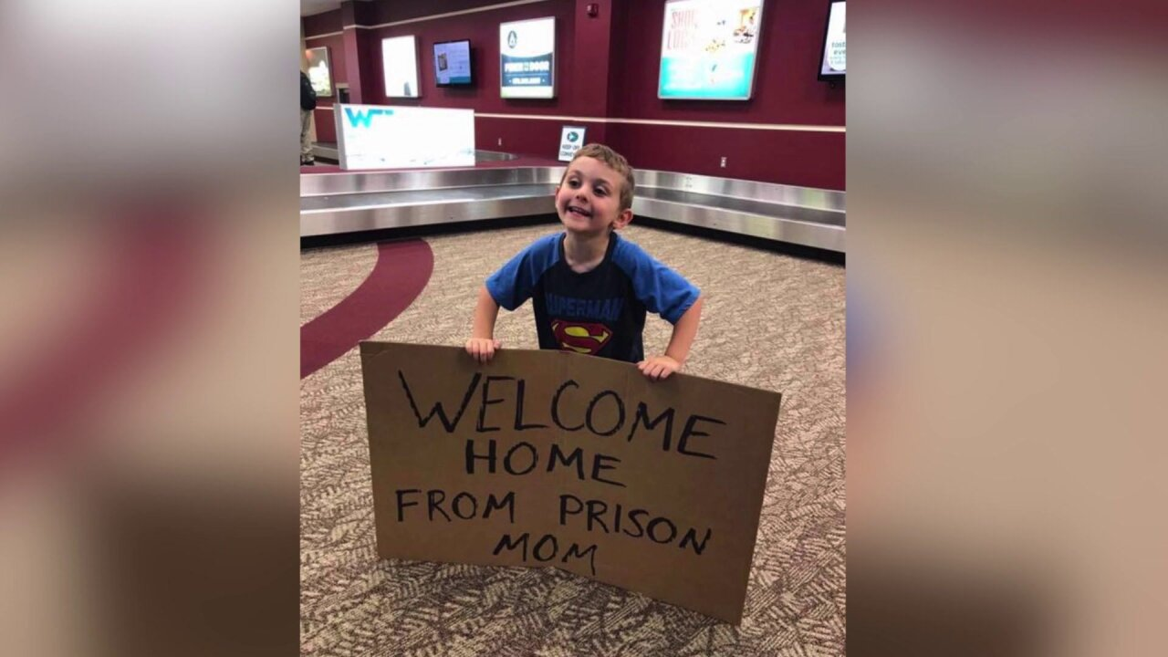 Mom returns from business trip son's 'Welcome Home From Prison' prank sign