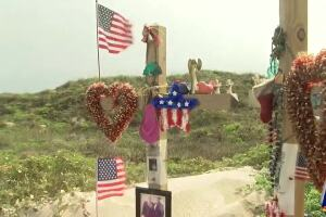 Island residents maintain memorial in honor of James, Michelle Butler