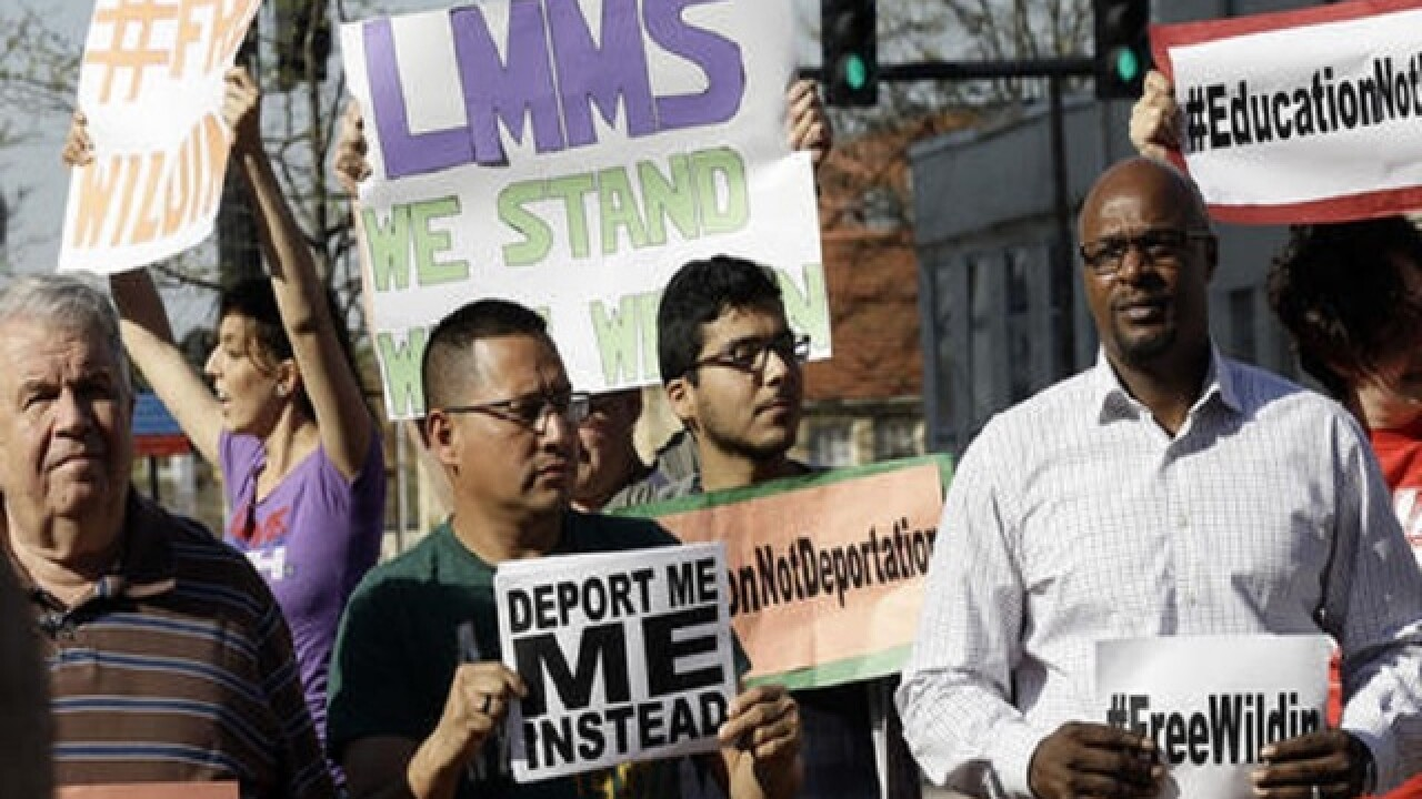 Support for student facing deportation