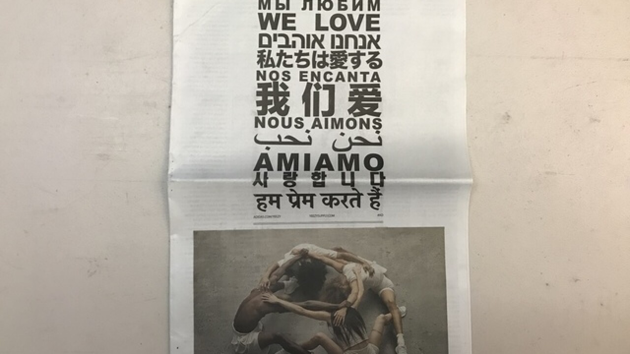 Kanye Yeezy ad takes over front page of papers