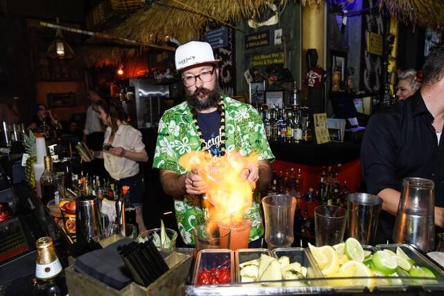 PHOTOS: Golden Tiki celebrates Donn Beach's birthday, shrinks Lonnie Hammargren's head