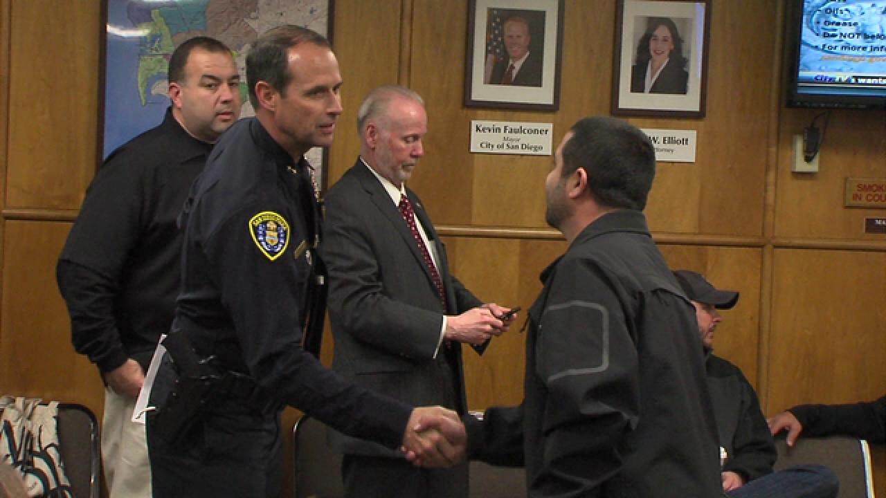 Community address news San Diego police chief
