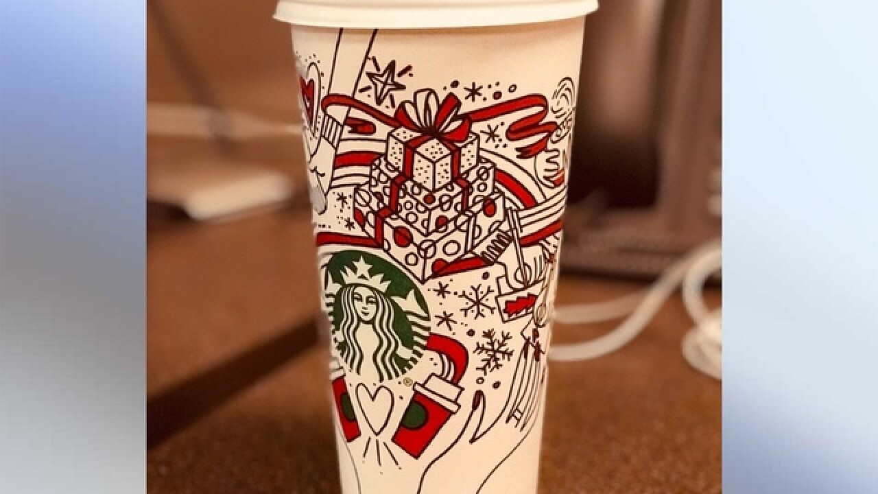 Starbucks releases first color-in design of holiday cup