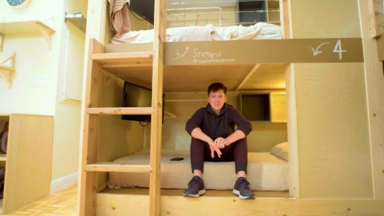 This is PodShare: a $1,200 per month bunk bed, privacy not included