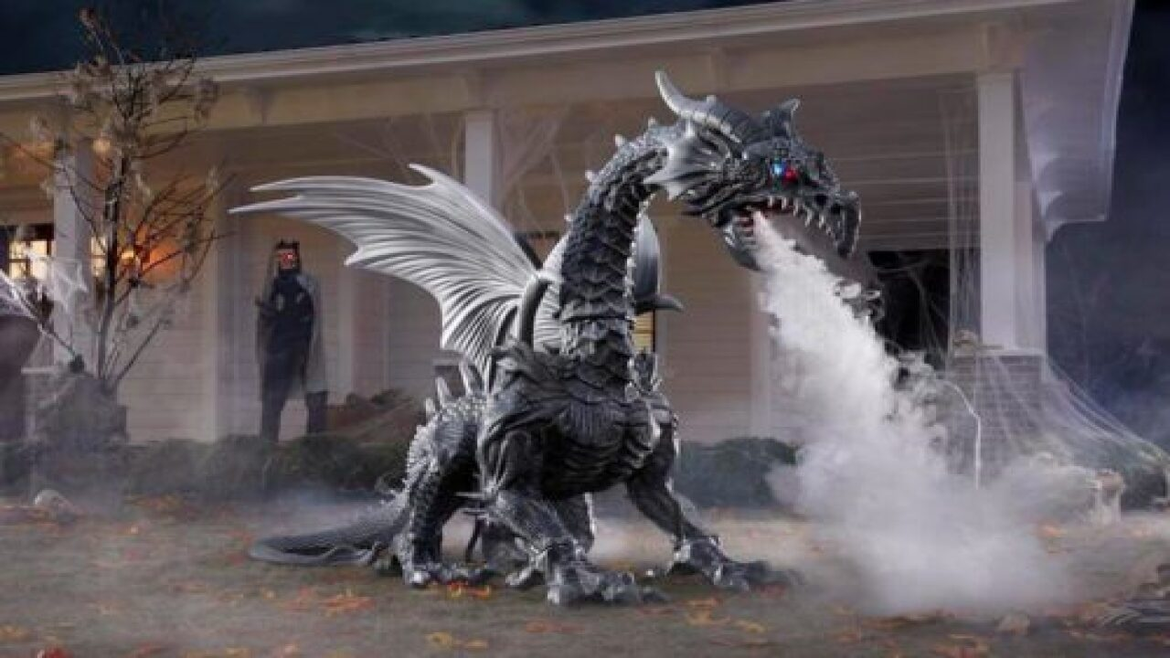 Giant 'fire-breathing' Dragon Is One Of The Coolest Halloween Decorations We've Seen