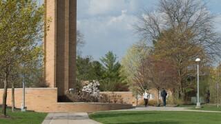 Ferris State University campus spring