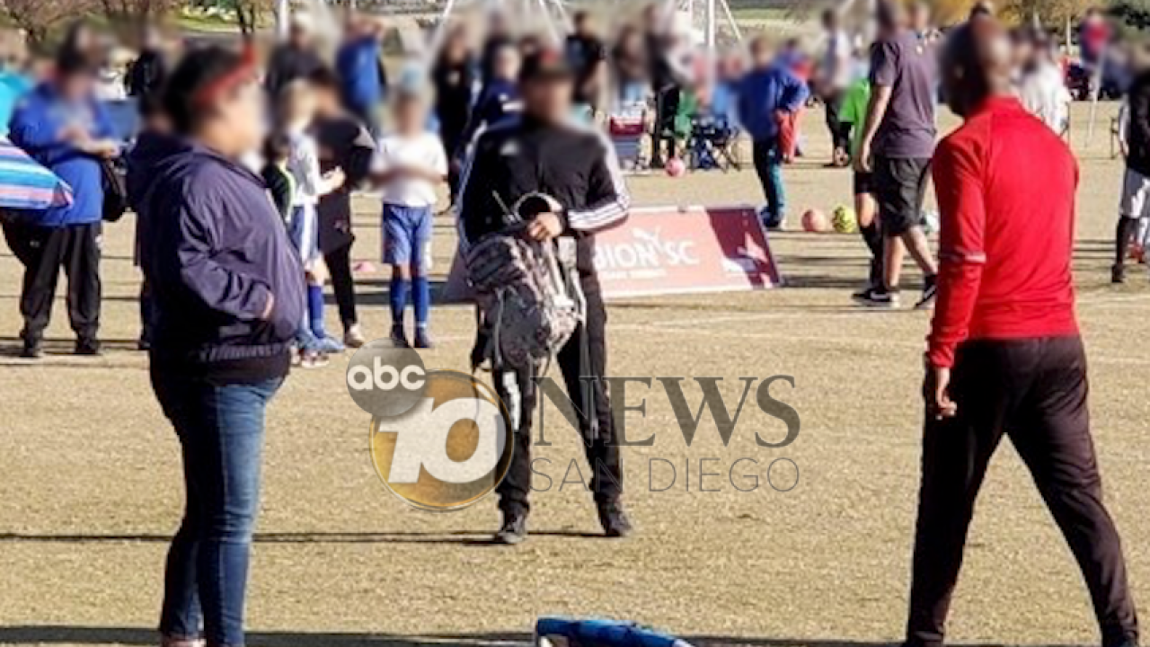 Police investigating reports of man brandishing a gun during youth soccer tournament in Calif.