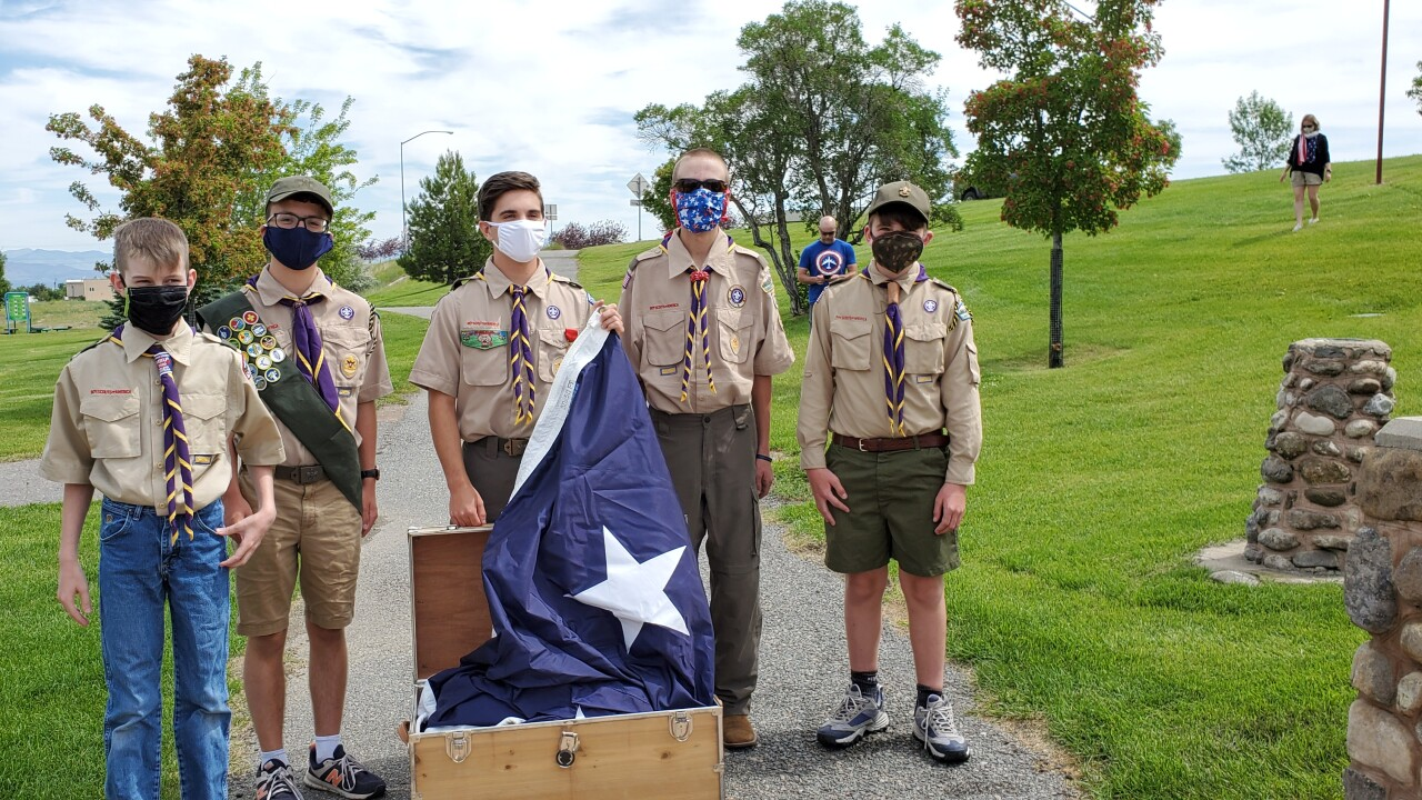 Helena Boy Scouts hold flag-raising ceremony for Independence Day