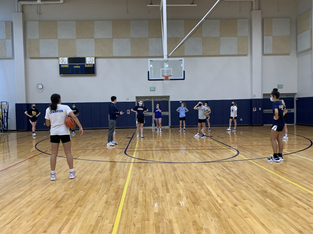 East Grand Rapids GBB holds non-contact practice