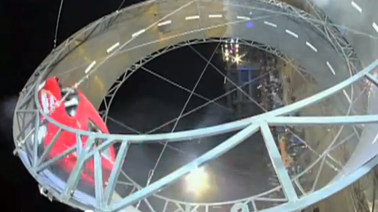Viral Video: Largest 'loop the loop' in a car