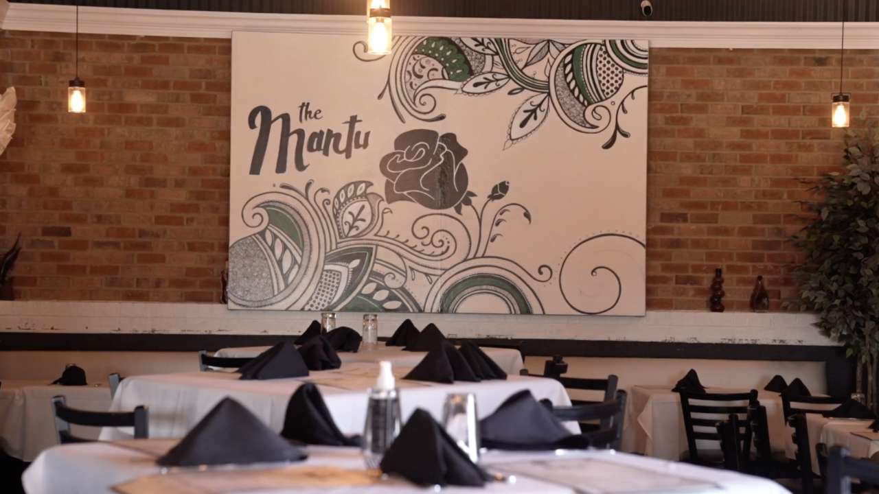 """The Mantu restaurant specializes in cuisine from Afghanistan. The name means """"me and you."""""""