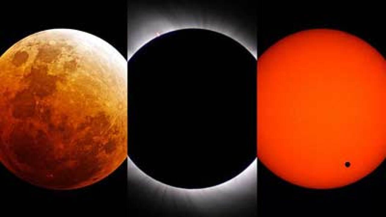 Solar eclipse projects 'ring of fire'